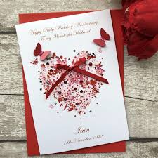 Personalised Wedding Anniversary Cards Handmade Cardspink Posh