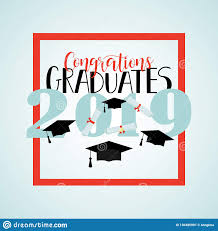 Congratulations For Graduation Vector Illustration On Blue Background Congratulations On