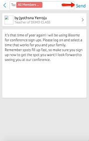 bloomz scheduling parent teacher conference how do i know that the parent teacher conference sign up sheet is sent to the invitees