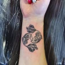 Ryby černobílá Ruka Tetování Tattoo