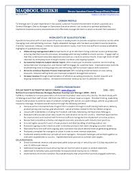 Best Solutions Of District Manager Retail Sample Resume Resume