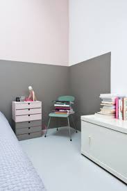 Walls Painted Halfway With Gorgeous Gray