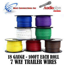 7 wire trailer harness trailer wire light cable for harness 7 way cord 18 gauge 100ft roll 7
