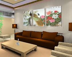 Paintings For Walls Of Living Room Aliexpresscom Buy Peacock Painting Flower Wall Canvas Paintings