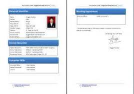 Contoh Resume Kerja Kerajaan Terbaik Example Good Resume Template