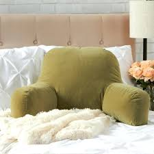 large size of pillow backrest with arms bed rest support chair pillows for back lumbar chairs