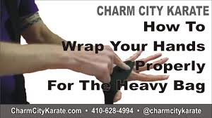 how to wrap your hands properly for the heavy bag charm city karate