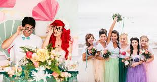 Small Picture Hipster Ariel Marries Eric in This Fantasy Beach Wedding Hipster