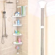 shower corner shelves telescopic and adjule tray home depot built in