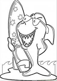 Small Picture Surfing Shark Coloring Page Free Australia Coloring Pages