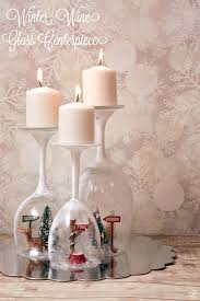 winter candle wine glass centerpiece centerpieces giant for