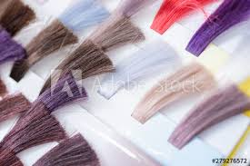 Sample Hair Colors Chart Hair Color Chart Palette Of Dyed Shiny Hair Samples