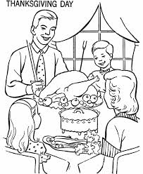 Small Picture Thanksgiving Dinner Coloring Page Sheets Family at Thanksgiving