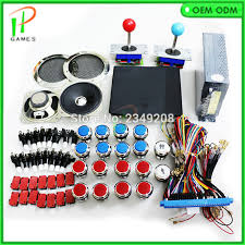 diy arcade kit mame jamma arcade 520 in 1 game board pcb with joystick ons wire harness 5v 12v power supply speaker in coin operated games from