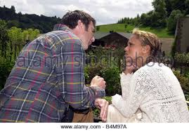Ian Kelsey Matt with Angela Griffith Frankie who plays his 2nd wife Stock  Photo - Alamy