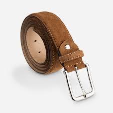suede leather belt brown cognac velour