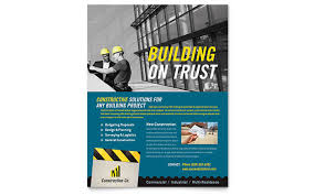 Commercial Flyers Industrial Commercial Construction Flyer Template Design