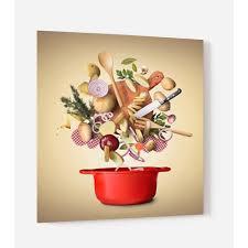 Fond De Hotte Ingrédients Cuisine En Verre De Synthèse L 60 X H