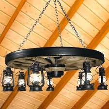 incredible large wagon wheel chandelier with black rustic lanterns rustic lodge reion wagon wheel small chandelier