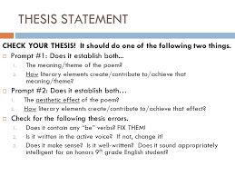 poetry interpretive analysis essay revising and editing activity  3 thesis