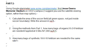 Calculating How Much Fertilizer To Add To An Area