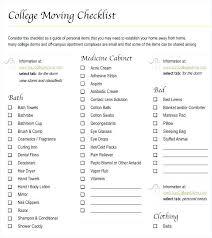 College Apartment Checklist College Supply List College Student ...