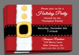printable christmas invitations christmas party invitation printable or printed with free shipping