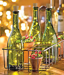 wine bottle with lights inside image collections
