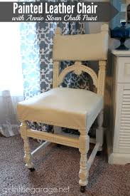 furniture painted with chalk paintPainted Leather Chair Makeover with Annie Sloan Chalk Paint  Girl