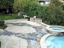 combining concrete natural stone