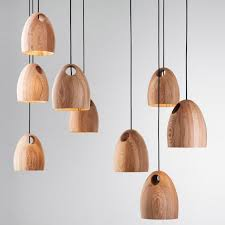 Modern Wooden Hanging Lamp Suspension Fixture Home Kitchen Desk Dining Room  Bucket Shape Wooden Pendant Light