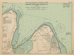 Vineyard Haven And Cottage City Marthas Vineyard Ma Colored Nautical Chart
