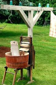 love this clothesline idea free standing retractable clothes line ideas