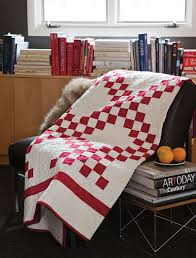 BLOCK Friday: Red and White Quilts - Fons & Porter - The Quilting ... & Irish Chain Quilt Adamdwight.com