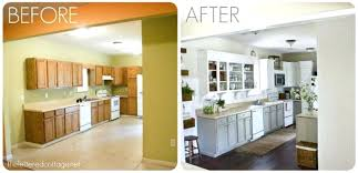 painted oak kitchen cabinets before and after. Painting Wood Kitchen Cabinets Before A Gallery For Website Painted . Oak And After