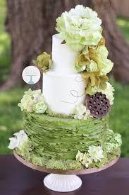 Rustic Fondant Wedding Cake Three Tier Wedding Cake Floral