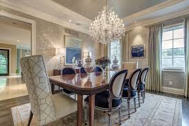 dining room tile flooring. traditional dining room with chandelier, bliss home \u0026 design custom upholstered nailhead chair - tile flooring