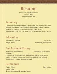Examples Of Simple Resume Resume Template Sample Microsoft Word