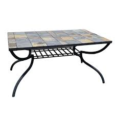 tile patio table metal and top replacement