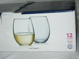 nib cachet drinking glasses thick oz durable everyday set of new best for use sets stemless good drinking glasses