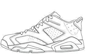 Jordan Coloring Pages Coloring Page Posts Jordan Sneakers Coloring