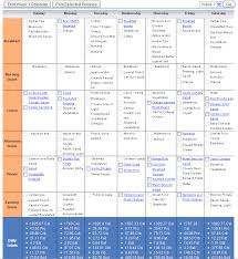 Daily Meal Chart For Good Health Food And Exercise Plan Kozen Jasonkellyphoto Co