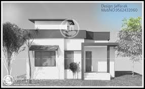 750 sq ft contemporary home design for small plot