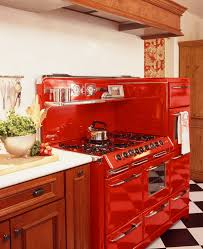 Kitchen Appliances Retro Look Small Kitchen Design With Charming