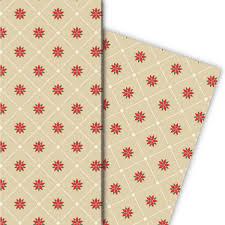 Edles Grafisches Weihnachts Geschenkpapier Mit Weihnachtsstern Beige