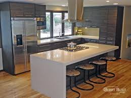 laminate cabinetry with quartz counters modern kitchen seattle