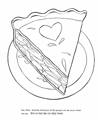 Small Picture Thanksgiving Dinner Coloring Page Sheets Apple pie with heart