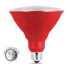 Feit Electric Par38 Dimmable Led Light Bulb 11 000 Hour Non Dimmable Red Led Par38 Feit Electric