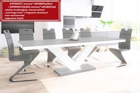 Design Esstisch He 999 Grau Matt Weiß Hochglanz Kombination