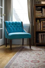 Image Furniture Stores Before After Professionally Tufted Turquoise Chair The Haystack Needle Core77 Before After Professionally Tufted Turquoise Chair Fabric For